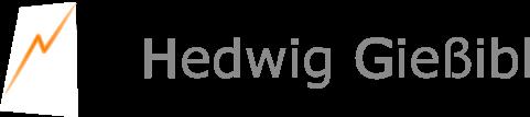 "Logo mit Text ""Hedwig Gießibl"""